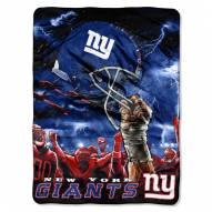 New York Giants Sky Helmet Raschel Blanket