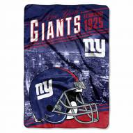 New York Giants Stagger Raschel Blanket