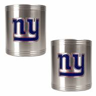 New York Giants Stainless Steel Can Coozie Set