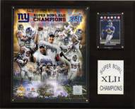 "New York Giants 12"" x 15"" Super Bowl XLII Champions Gold Plaque"