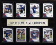 "New York Giants 12"" x 15"" Super Bowl XLVI 8 Card Plaque"