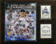 "New York Giants 12"" x 15"" Super Bowl XLVI Champions Gold Plaque"