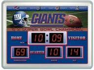 New York Giants Thermometer Scoreboard Clock