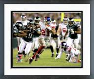 New York Giants Tiki Barber 2006 NFC Wild Card Game Action Framed Photo