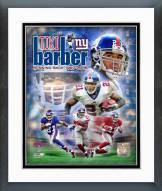 New York Giants Tiki Barber Legends Composite Framed Photo