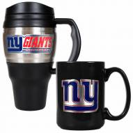 New York Giants Travel Mug & Coffee Mug Set