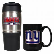 New York Giants Travel Tumbler & Coffee Mug Set