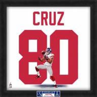 New York Giants Victor Cruz Super Bowl Uniframe Framed Jersey Photo