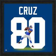 New York Giants Victor Cruz Uniframe Framed Jersey Photo