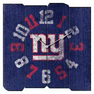 New York Giants Vintage Square Clock