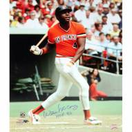 "New York Giants Willie McCovey Close Up Swing w/ HOF 86 Signed 16"" x 20"" Photo"