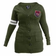 New York Giants Women's Olive Varsity Cardigan
