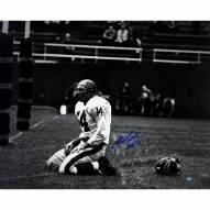 "New York Giants YA Tittle Agony of Defeat Blood w/""HOF 71"" Signed 16"" x 20"" Photo"
