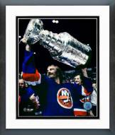 New York Islanders Bobby Nystrom With Stanley Cup Framed Photo