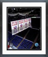 New York Islanders Stanley Cup Championship Banners Framed Photo