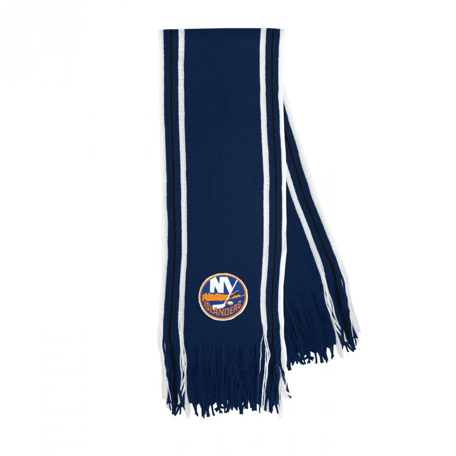 New York Islanders Stripe Fringe Scarf