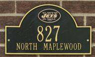 New York Jets NFL Personalized Address Plaque - Black Gold