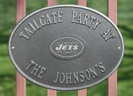 New York Jets NFL Personalized Logo Plaque - Pewter Silver