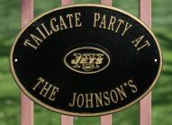 New York Jets NFL Personalized Logo Plaque - Black Gold