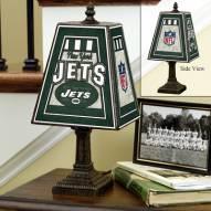New York Jets Art Glass Table Lamp