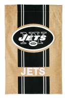 New York Jets Burlap Flag