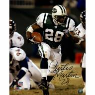 "New York Jets Curtis Martin Run vs. Broncos Signed 16"" x 20"" Photo"