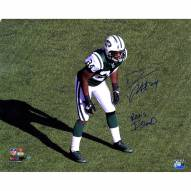 "New York Jets Darrelle Revis Stance w/ ""Revis Island"" Signed 16"" x 20"" Photo"