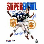 "New York Jets Emerson Boozer, Matt Snell & Don Maynard Super Bowl III Program Signed 16"" x 20"" Photo"