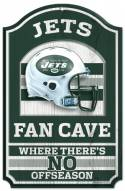 New York Jets Fan Cave Wood Sign