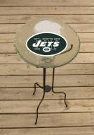 New York Jets Glass Bird Bath
