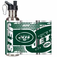 New York Jets Hi-Def Stainless Steel Water Bottle