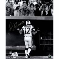 "New York Jets Joe Namath Walking Off the Field Shrug to Ladies Signed 16"" x 20"" Photo"