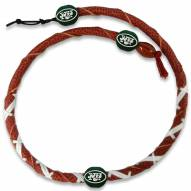 New York Jets Leather Football Necklace