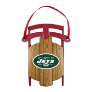 New York Jets Metal Sled Tree Ornament