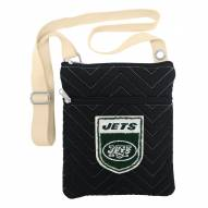 New York Jets Chevron Stitch Crossbody Bag