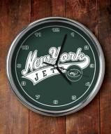 New York Jets NFL Chrome Wall Clock
