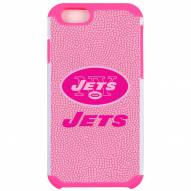 New York Jets Pink Pebble Grain iPhone 6/6s Plus Case