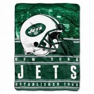 New York Jets Silk Touch Stacked Blanket