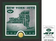 New York Jets State Bronze Coin Photo Mint