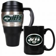 New York Jets Travel Mug & Coffee Mug Set