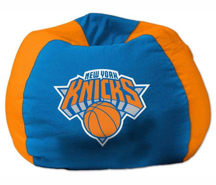 When Itu0027s Time For The Game, Itu0027s Time To Bring Out The New York Knicks Bean  Bag Chair. This Soft And Comfortable Chair Features Team Colored Panels And  ...