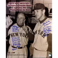 """New York Mets 1962 """"1st Mets Win"""" inscribed by Jay Hook Signed 16"""" x 20"""" Photo"""