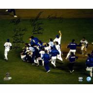 "New York Mets 1986 11 Signature WS Celebration Signed 16"" x 20"" Photo"
