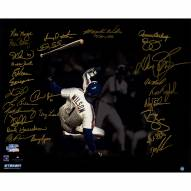 """New York Mets 1986 Team Signed Mookie Wilson Game 6 1986 World Series Signed 16"""" x 20"""" Photo"""