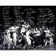 "New York Mets 1986 Team Signed World Series Winning Celebration Signed 16"" x 20"" Photo"