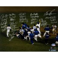 "New York Mets 1986 Team World Series Winning On Field Celebration (28 Signatures) Signed 16"" x 20"" Photo"
