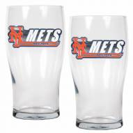 New York Mets 20 oz. Pub Glass - Set of 2