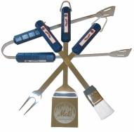 New York Mets 4-Piece Stainless Steel BBQ Set