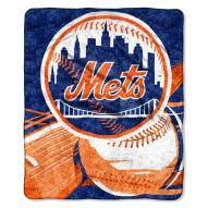 New York Mets Big Stick Sherpa Blanket