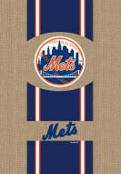 New York Mets Burlap Flag